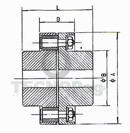 Acopla a perno de acero Serie A-B dibujo